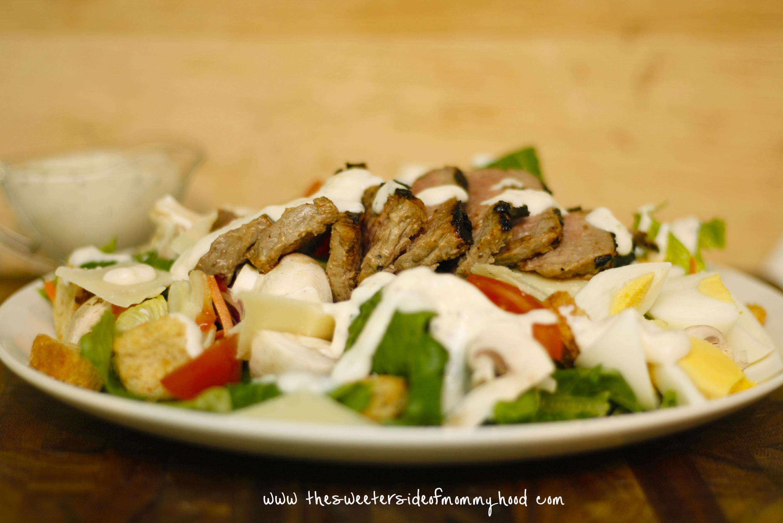 Dijon Peppercorn Steak Salad