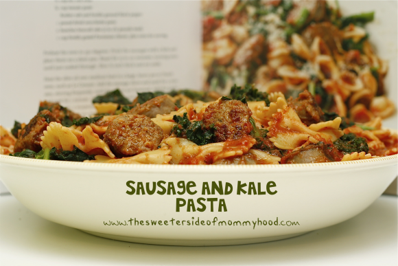... Side of Mommyhood » Kale and Sausage Pasta with Simple Red Sauce