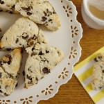 5 Minute Chocolate Chip Scones