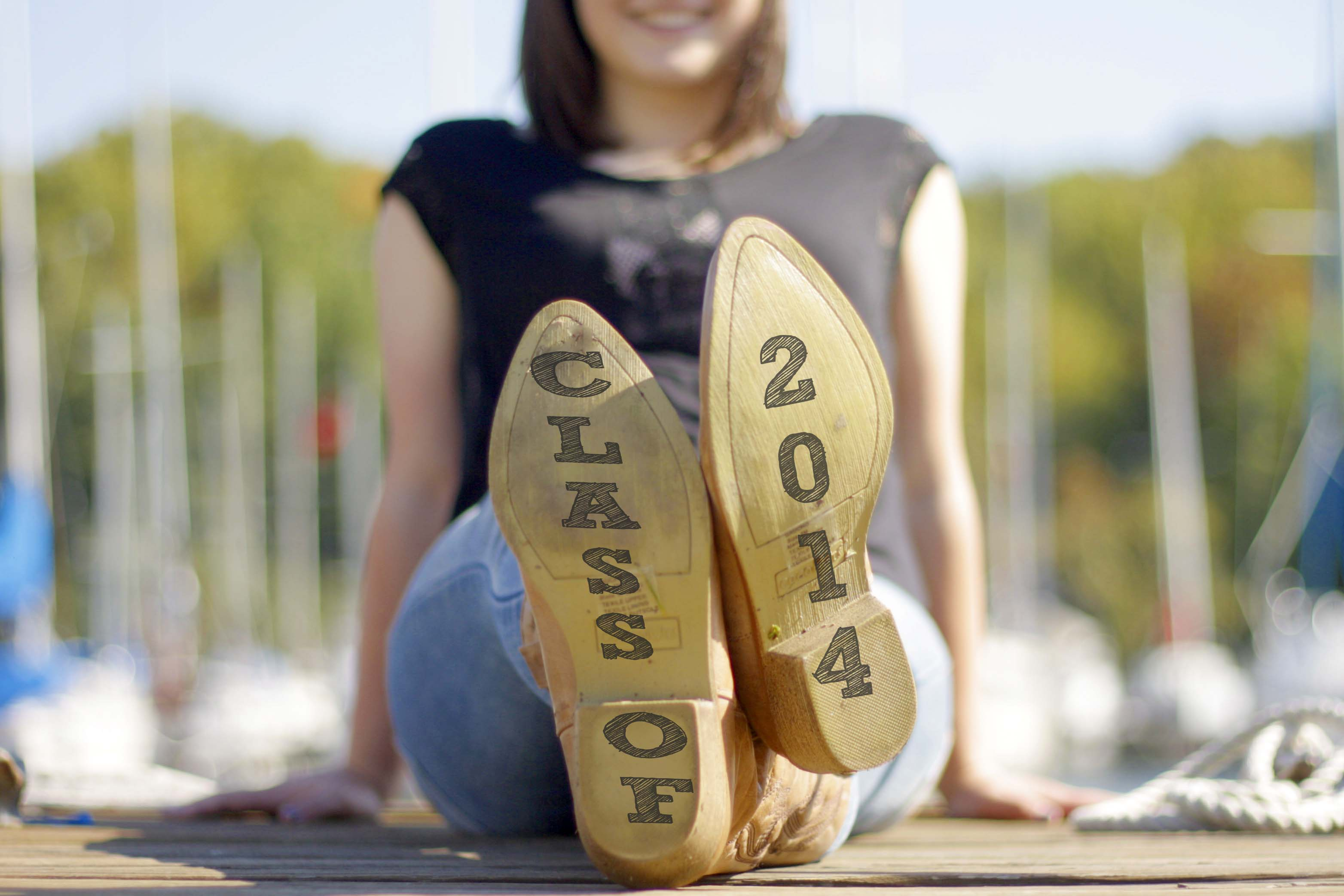 Senior Pictures :: Boats, docks, bridges, and woops.. some babies!