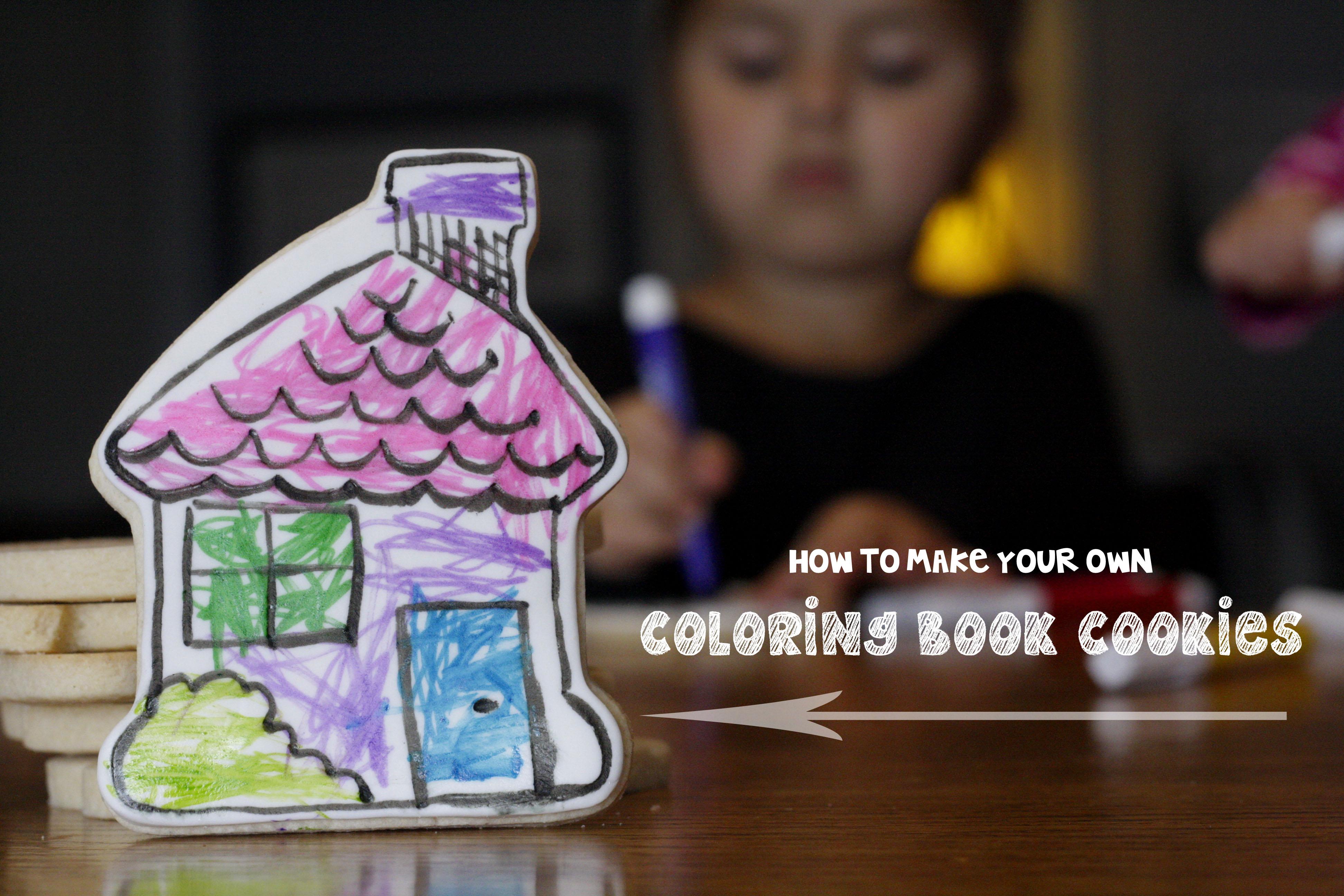 Coloring Book Cookies