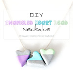 Enameled Heart Bead Necklace : DIY