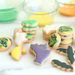Mini Halloween Shortbread Cookies