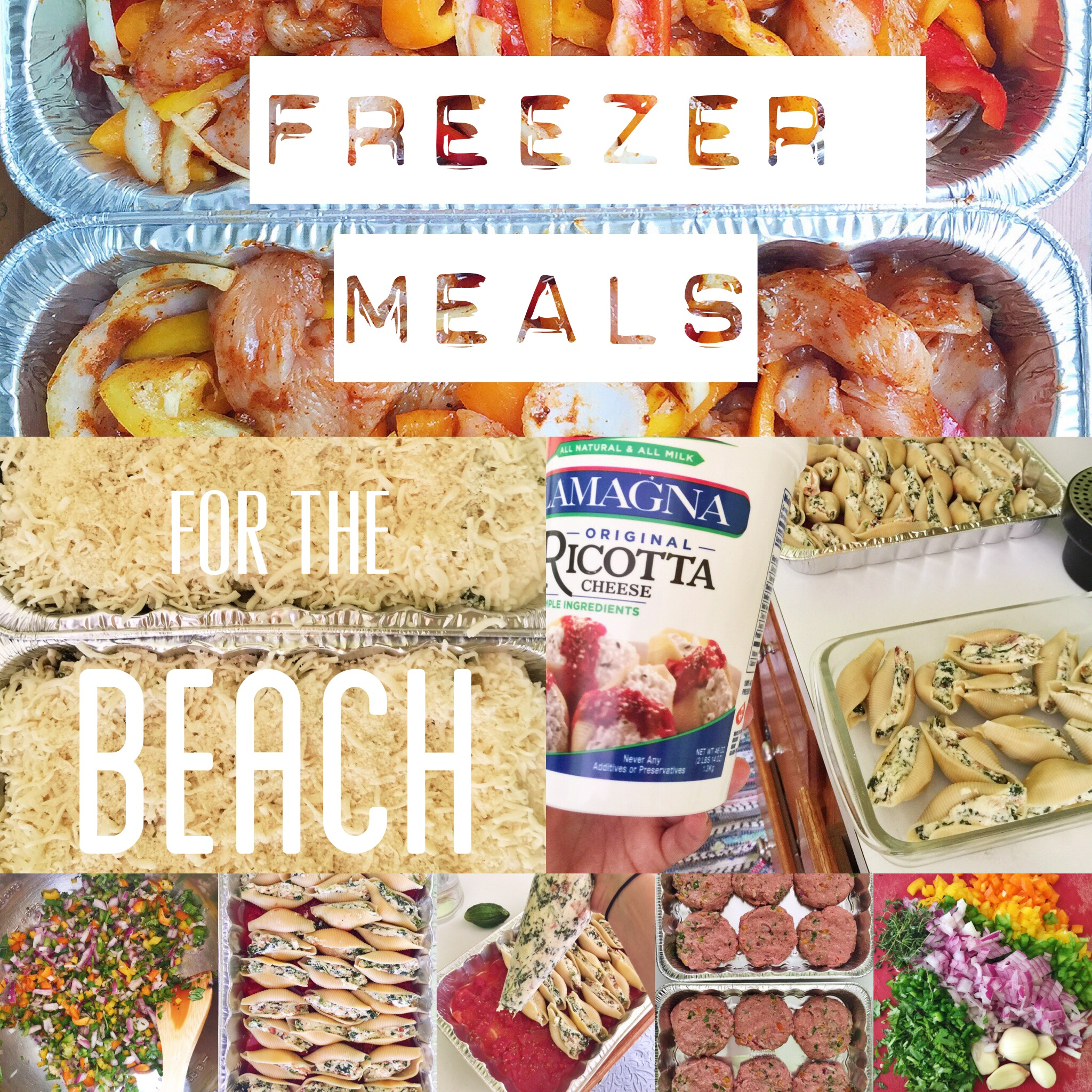 FREEZER MEALS FOR THE BEACH!