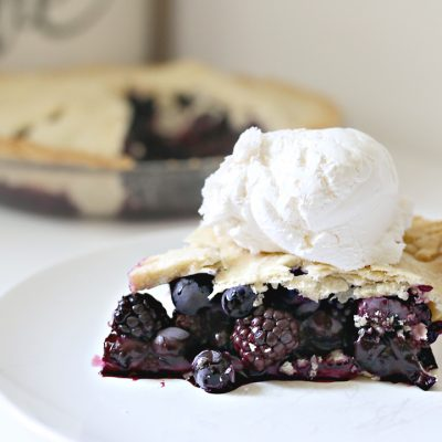 Sweet and Savory Black and Blue Berry Pie