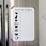 Summer Rules! (a.k.a. the kid friendly chore chart.)