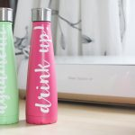 (Almost) Hand Lettered Swell Water Bottles