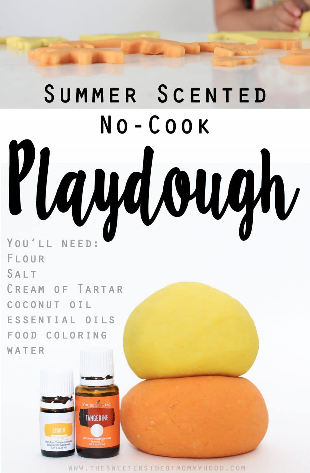 Summer Scented No Cook Playdough Easy Craft For Kids