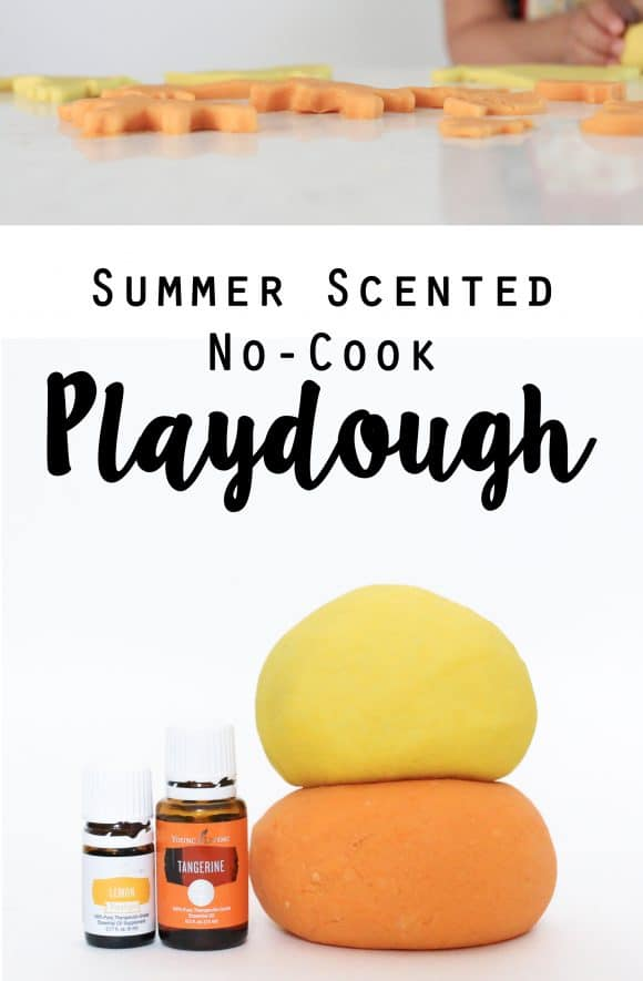 Summer Scented No Cook Playdough