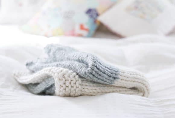 4 Skein Knit Heirloom Baby Blanket