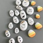 DIY Painted Ghost Rocks for Halloween