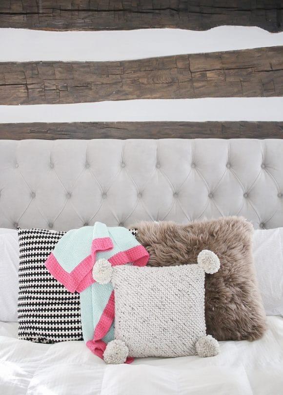 Project Files: Knit Pom Pom Pillow Pattern