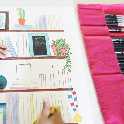 Free Printable Book Log Coloring Page!