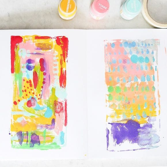 Preschool Process Art Sketchbook Prompt: Repeat Printing