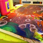 Preschool Collaborative Painting and easy craft ideas for kids