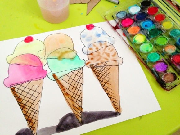 Wayne Thiebaud Inspired Easy Crafts For Kids
