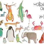 Watercolor Animal Invitations