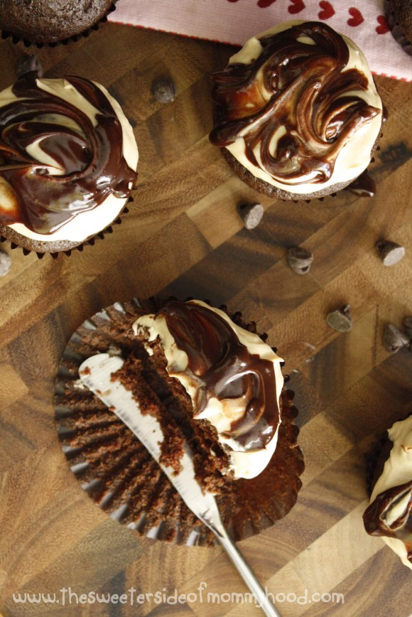 Chocolate Amaretto Cupcakes 6