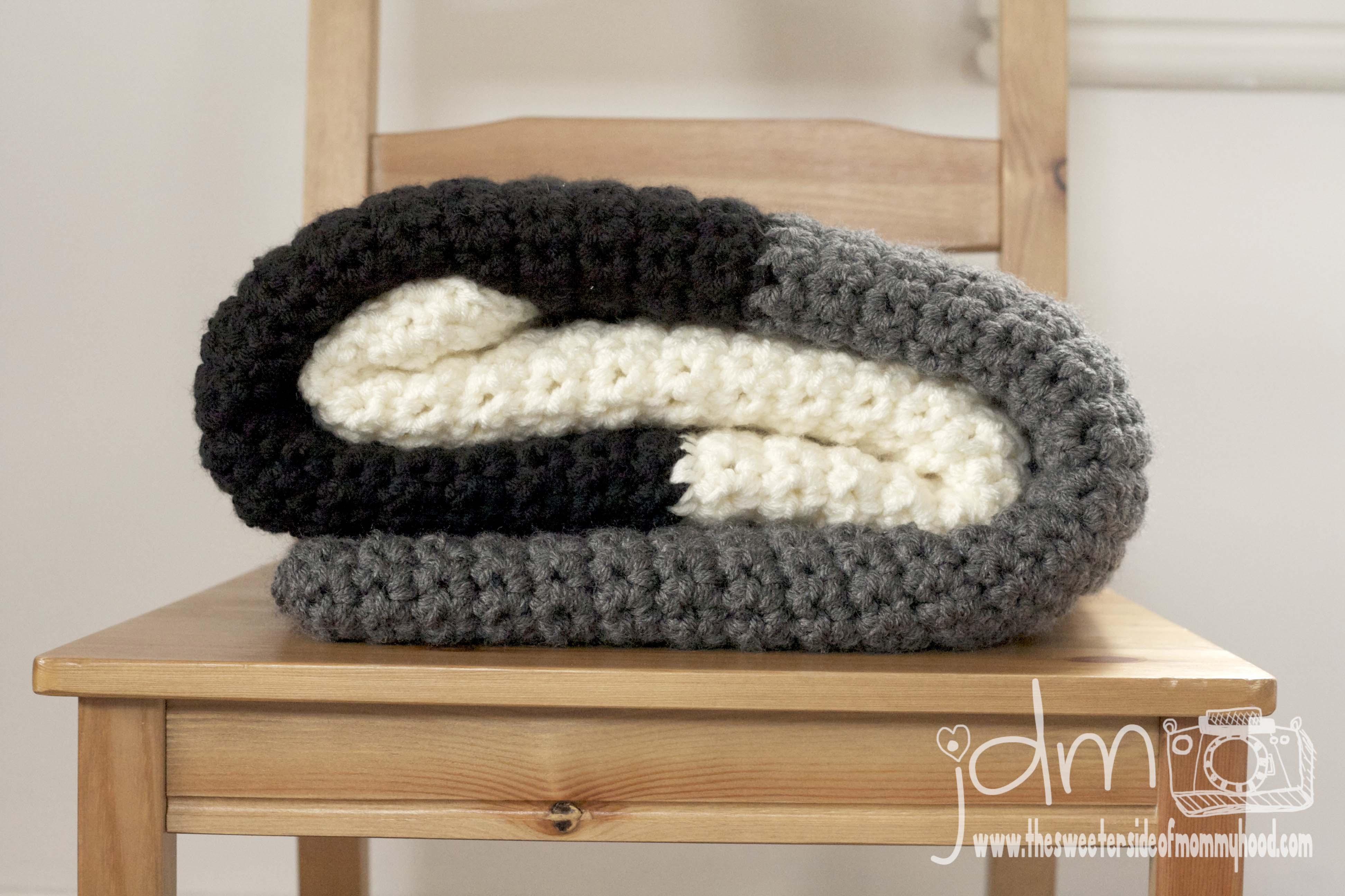 Chunky Crochet Blanket The Sweeter Side Of Mommyhood