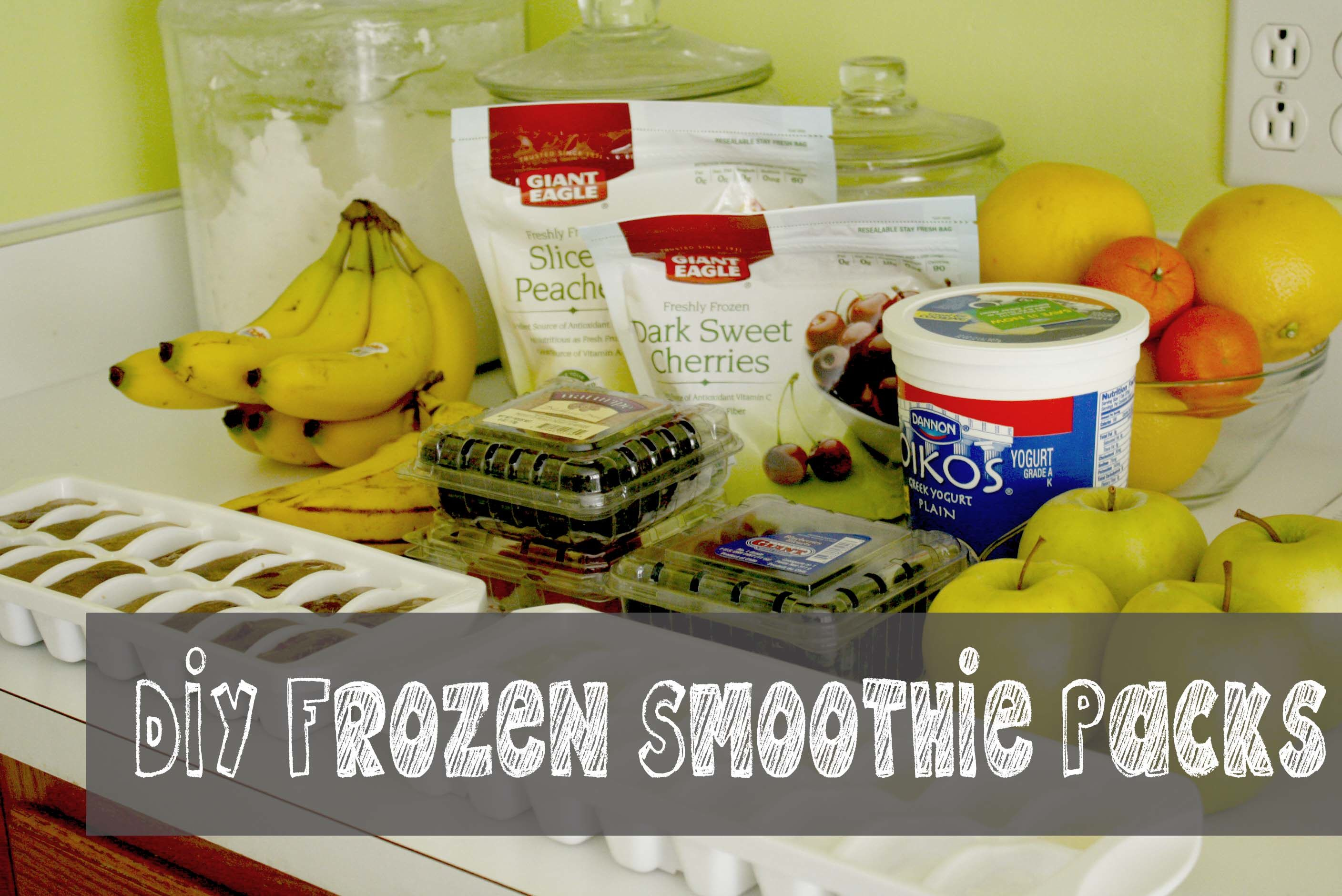 DIY Frozen Smoothie Packs and A Fabulous Cookie Recipe