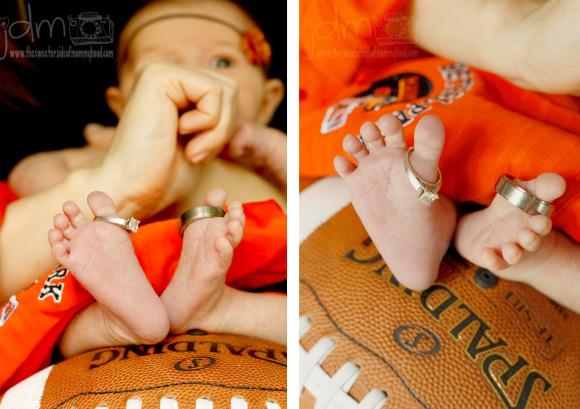 Football feet daisy collage