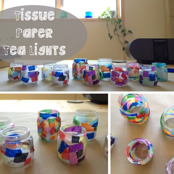 Tissue Paper Tea Lights