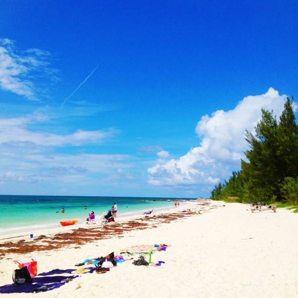 Bahamian beach in Freeport.