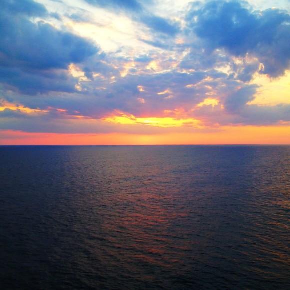 Sunset on the Atlantic.