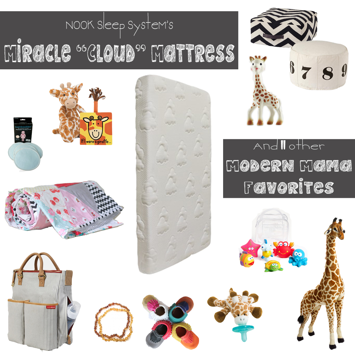 12 Modern Mama Favorites and the *Amazing* NOOK Cloud Crib Mattress!