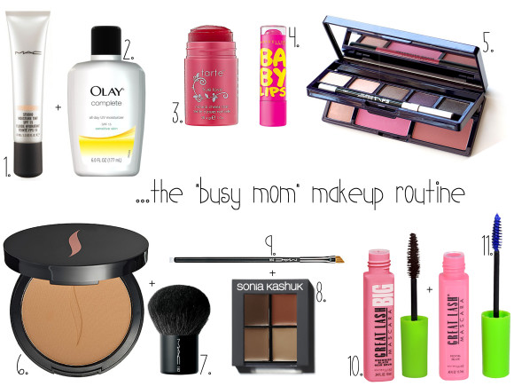 Busy Mom Makeup Routine Graphic