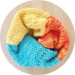 Mixed Stitch Knit Cowl