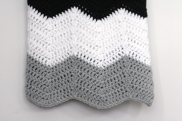 crochet colorblock chevron blanket003