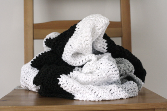 crochet colorblock chevron blanket008