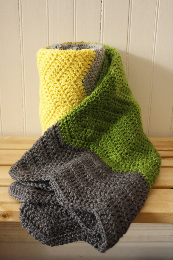 crochet colorblock chevron blanket012