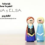 Peg Dolls: How To Paint Anna and Elsa!