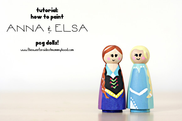 anna and elsa peg doll cover