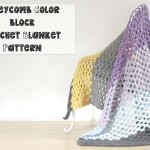 Honeycomb Color Block Crochet Blanket Pattern