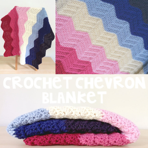 crochet chevron blanket pink and blue008