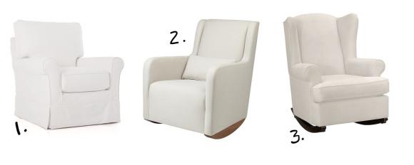 nursery chair options