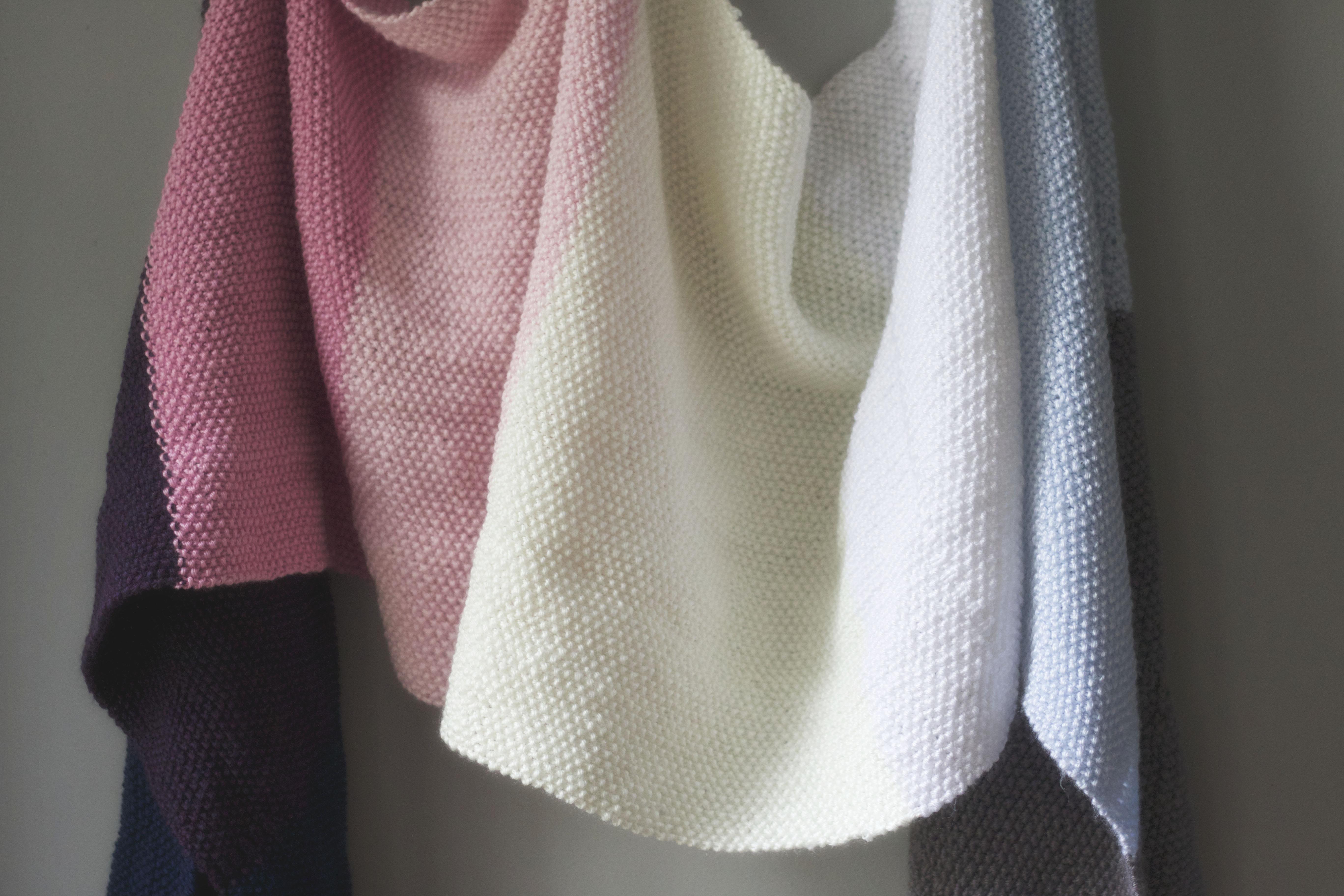 Knit Seed Stitch Wrap