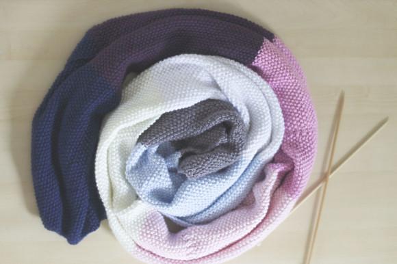 knit seed stitch wrap14