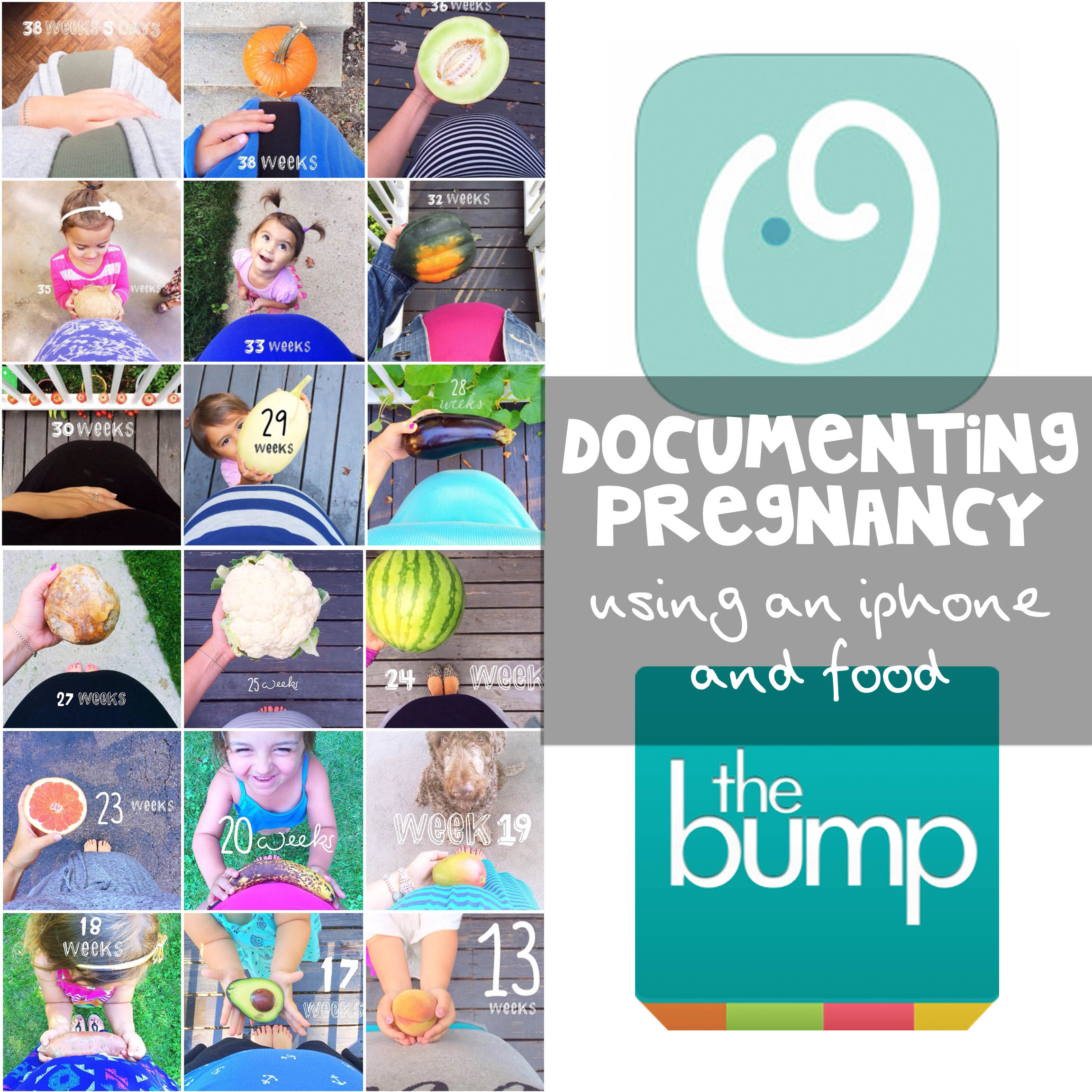 documenting pregnancy using an iphone and food