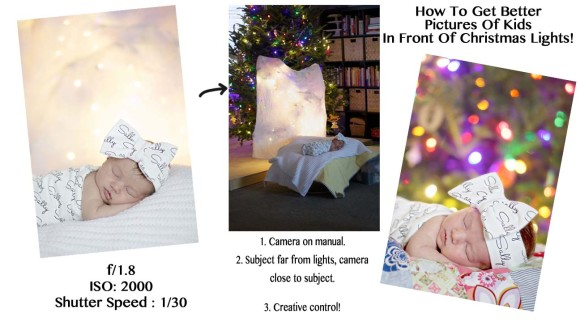 How To Get Blurry Christmas Light Pictures of Kids4