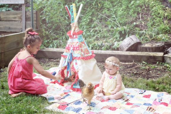 chickens and teepee36