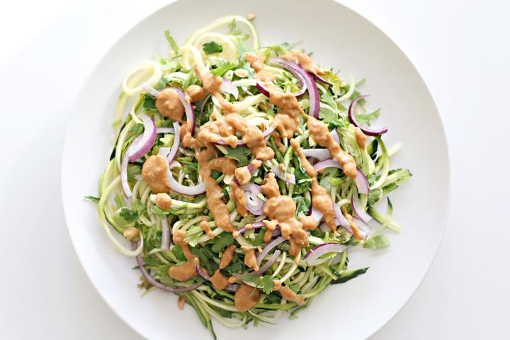 Zucchini Peanut Noodles Recipe