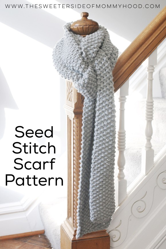 Chunky Knit Seed Stitch Scarf The Sweeter Side Of Mommyhood