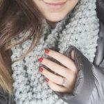 Chunky Knit Seed Stitch Scarf