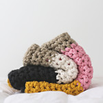 Colorblock Extra Chunky Crochet Blanket