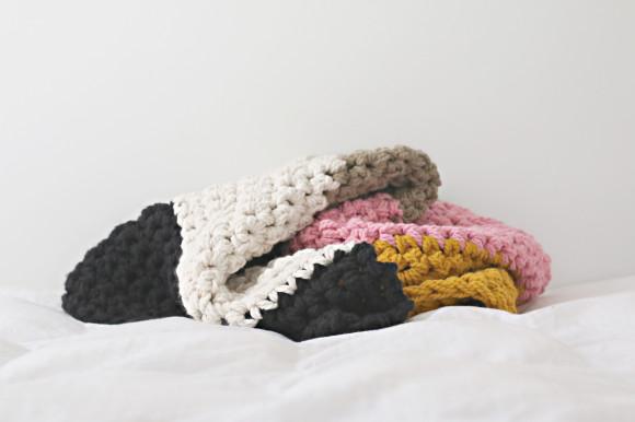 Chunky crochet blanket4