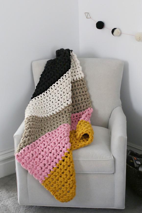 Chunky crochet blanket6